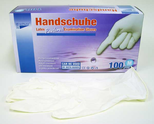 Handschuhe – Disposable Latex Examination Glove